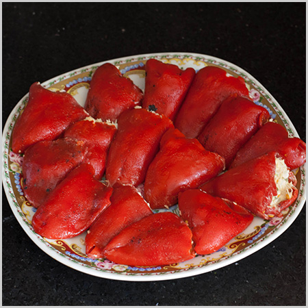 Stuffed Piquillo Peppers with Tuna Salad[