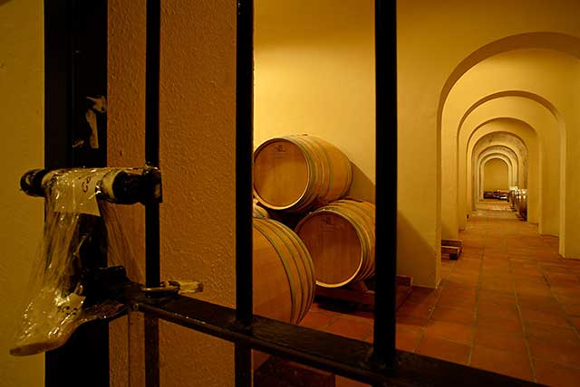 Cellar where Kosher wine is made